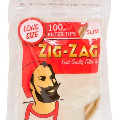 Zig-Zag Long Slim Filter 100 pieces
