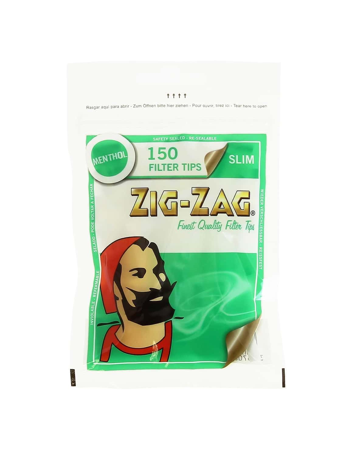 Zig-Zag Slim Filter 150 pieces - Methol Flavour